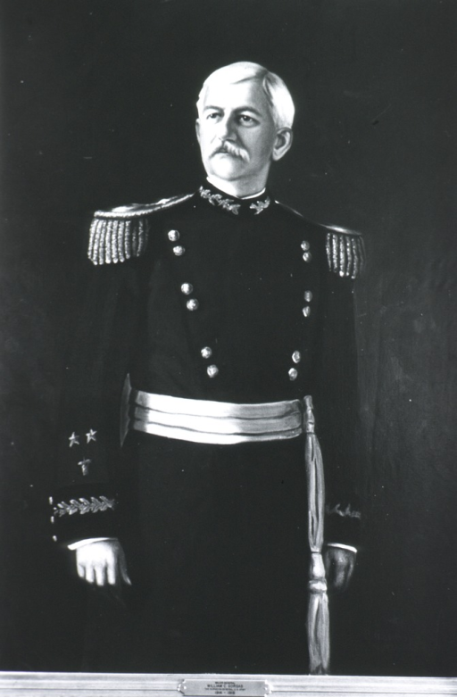 <p>Three-quarter length, standing, full face; wearing full dress uniform (Major General).</p>
