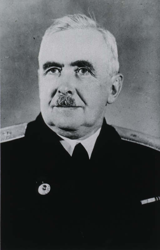 <p>Head and shoulders, full face, wearing Russian uniform and medals.</p>
