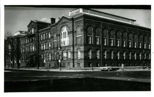 <p>Southeast, exterior view of Army Medical Library in Washington, D.C.</p>