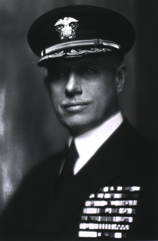 <p>Full face, wearing uniform with medals.</p>