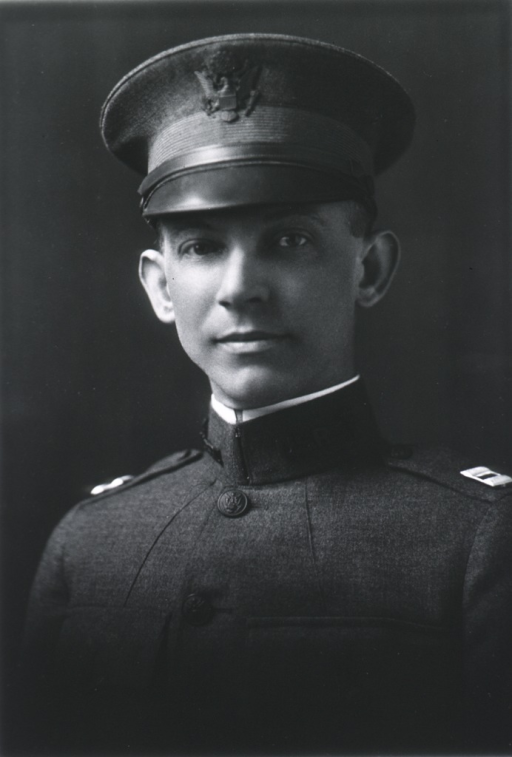 <p>Head and shoulders, full face; wearing uniform and cap (Captain).</p>