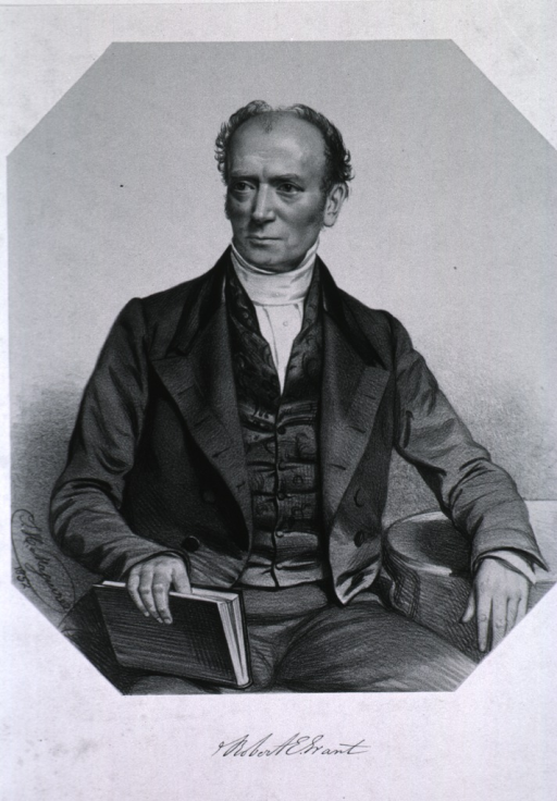 <p>Half-length, front pose, seated, holding book, head turned slightly to the left.</p>