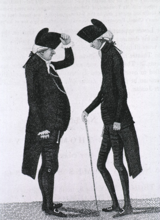 <p>Showing Hay, full length, left profile, and Sir Jas. Stirling, full length, right profile.</p>