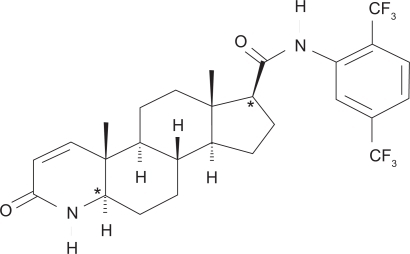 Dutasteride chemical structure.