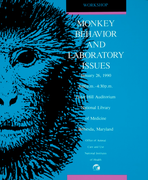 <p>Half of a monkey's face is next to the text.</p>