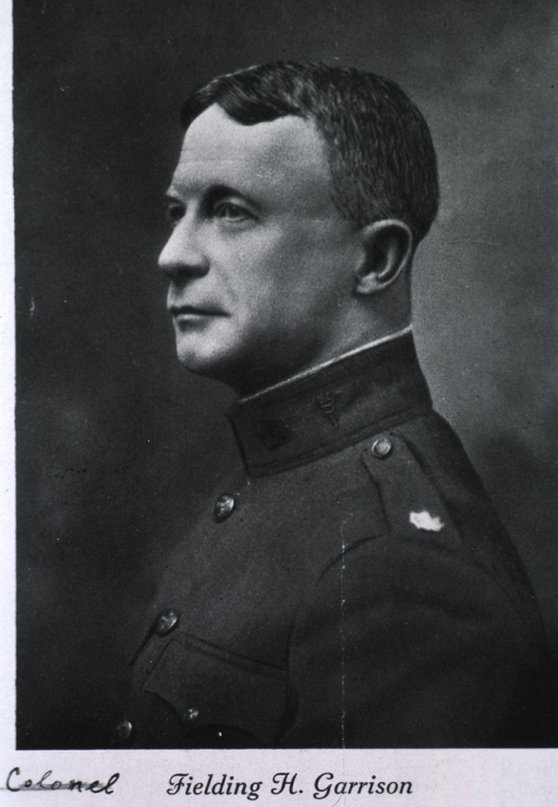 <p>Head and shoulders, left profile; wearing uniform.</p>