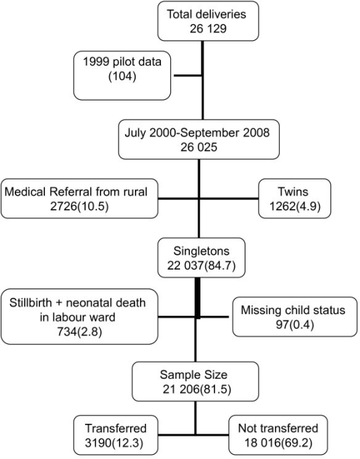 Schematic diagram of the study population and sample si | Open-i