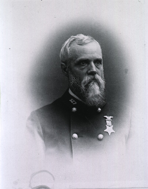 <p>Head and shoulders, full face, turned slightly to the right, wearing uniform.</p>