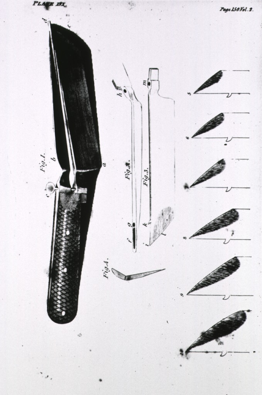 <p>Gorget, a cutting instrument from lithotomy.</p>