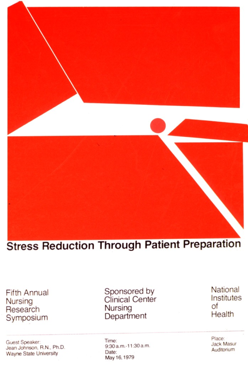 <p>A red and white abstract design covers the top two-thirds of the poster. The remaining third of the poster lists the date, time, and place of the lecture.</p>