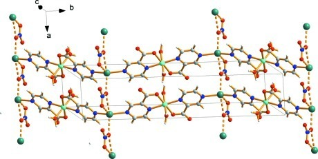 View of a two-dimensional network generated by Ag···O weak interactions.