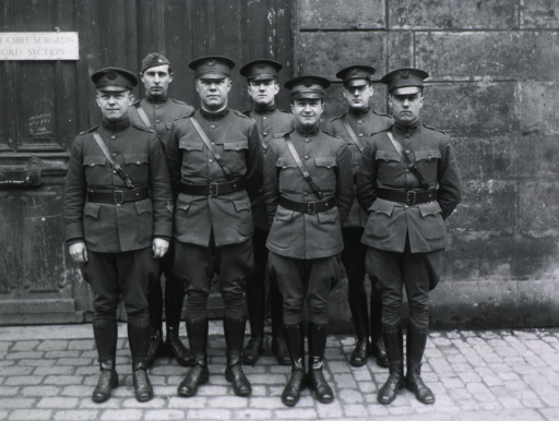 <p>Group.  Surgeon General's Office, Sick &amp; Wounded Department Personnel:  All standing, full face; wearing uniforms and caps.</p>