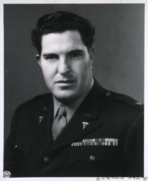 <p>Head and shoulders, in uniform, Col., M.C.</p>
