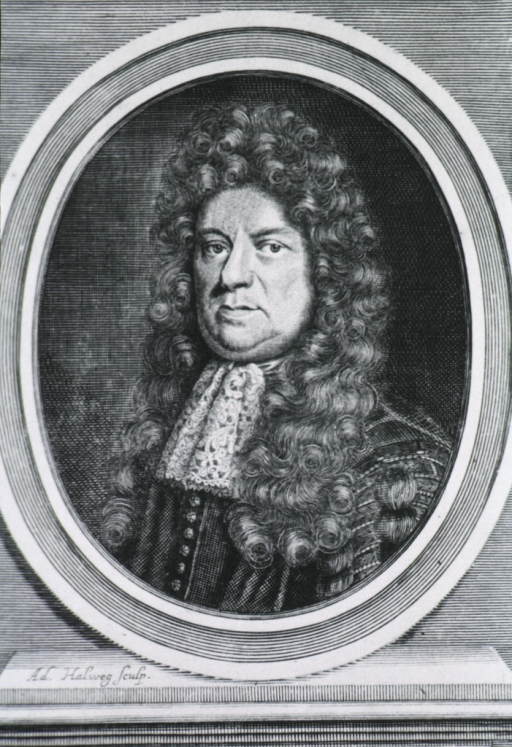 <p>Head and shoulders, left pose, long curls; in oval on base.</p>
