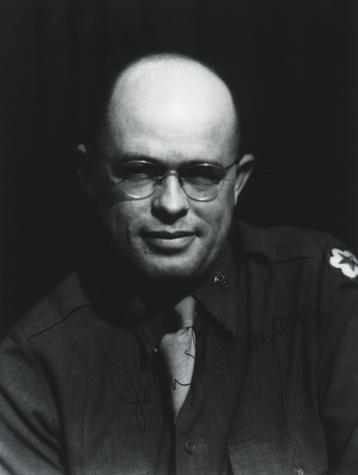 <p>Head and shoulders, full face, wearing uniform, bare-headed.</p>