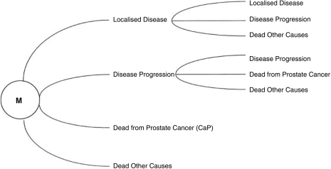 Markov representation of early localised prostate.