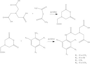 Synthesis of derivatives of N-(2-phenylamine- 2-oxoethyl)iminodiacetic acid