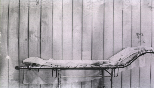 <p>A combined operating table and hand litter used at Kaufman Red Cross Hospital.</p>