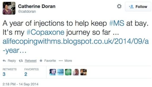 Example tweet from drug-specific analysis.