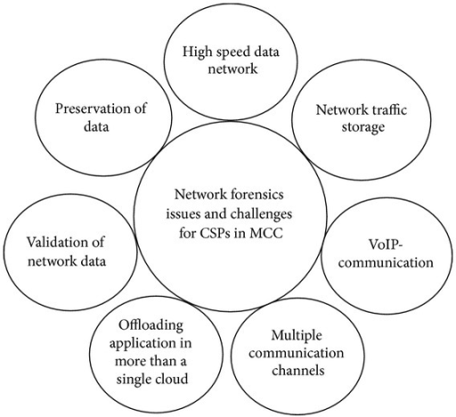 Network forensics: issues and challenges for CSPs in MCC.