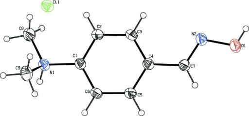 The molecular structure of the title compound. Displacement ellipsoids are drawn at the 30% probability level