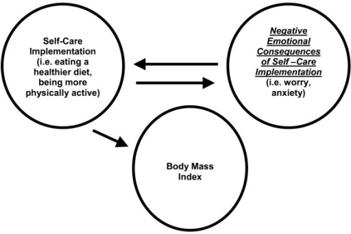 Relationship Between Negative Emotional Consequences of Self-Care Implementation and Body Mass Index.