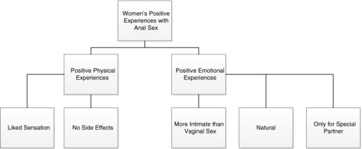 Women's Positive physical and emotional experiences of anal intercourse (N = 32)