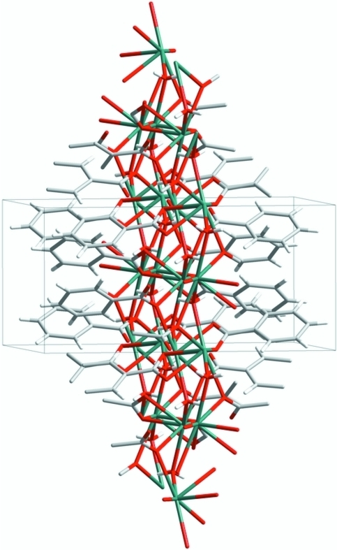 The three-dimensional structure of the title compound.