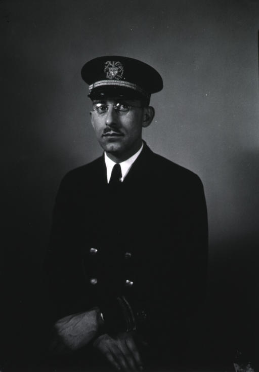 <p>Three-quarter length, full face, hands crossed, wearing USPHS uniform and cap.</p>