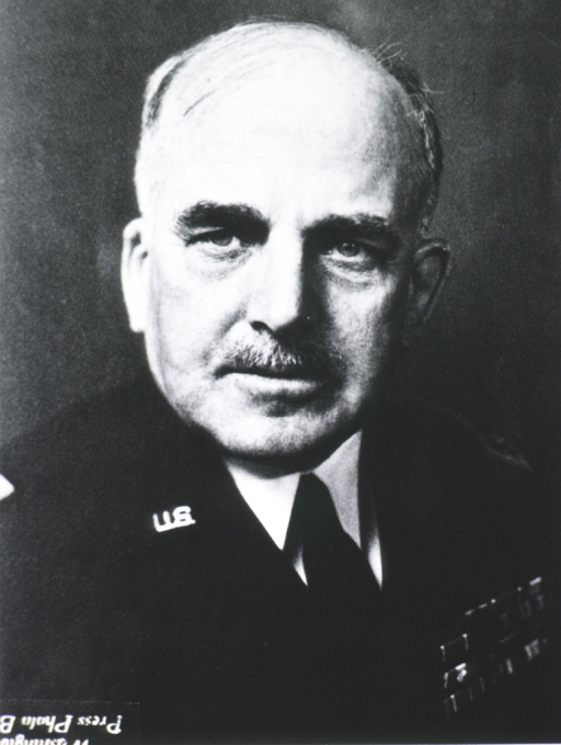<p>Head and shoulders, right pose, full face; wearing uniform (Major General).</p>