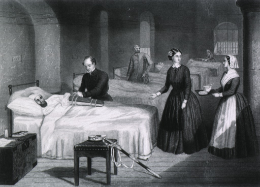 <p>Miss Nightingale in the Hospital at Scutari.</p>