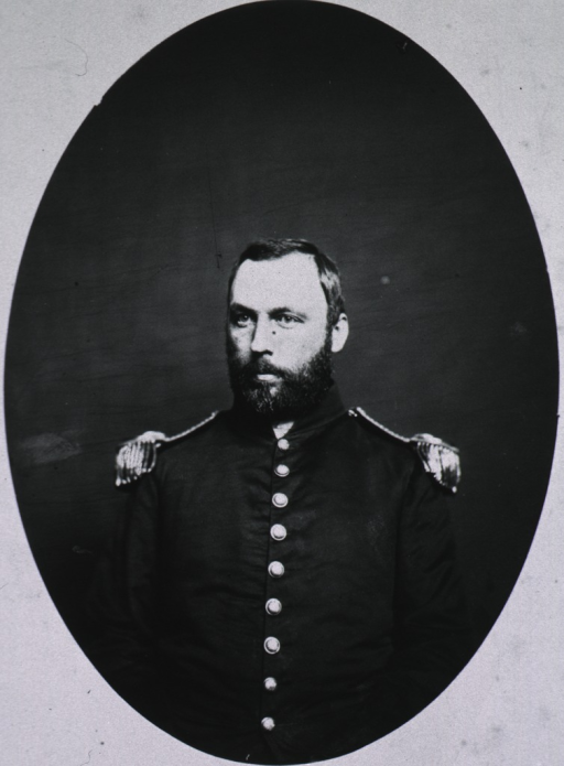 <p>Full face, in uniform; oval print.</p>