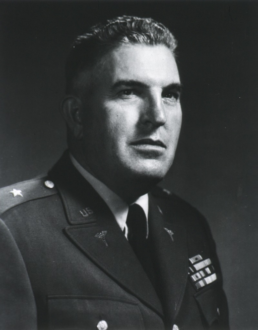 <p>Head and shoulders, full face; in uniform of Brig. Gen., M.C. USA as chief surgeon.</p>