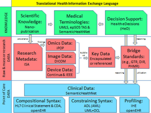 The landscape of the proposed 'Translational Health Information Language'.