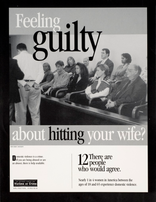 <p>Black and white poster with white and black lettering. Visual image is a jury of 12 men and women watching a man in handcuffs being escorted away. Beginning of title superimposed at top of image. Remainder of title at bottom of image. Publisher information at bottom of poster.</p>