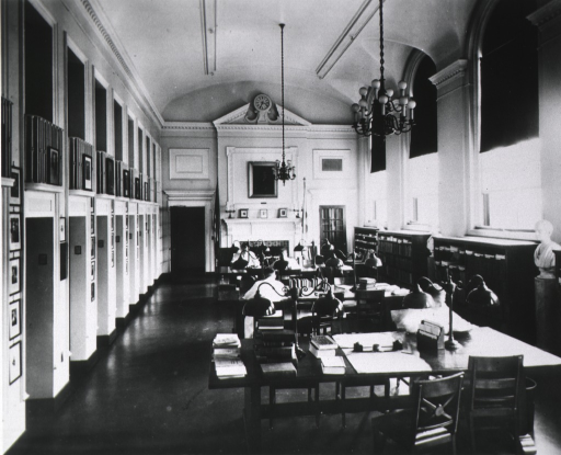 <p>The Treadwell Library.  Interior showing the reading room.</p>