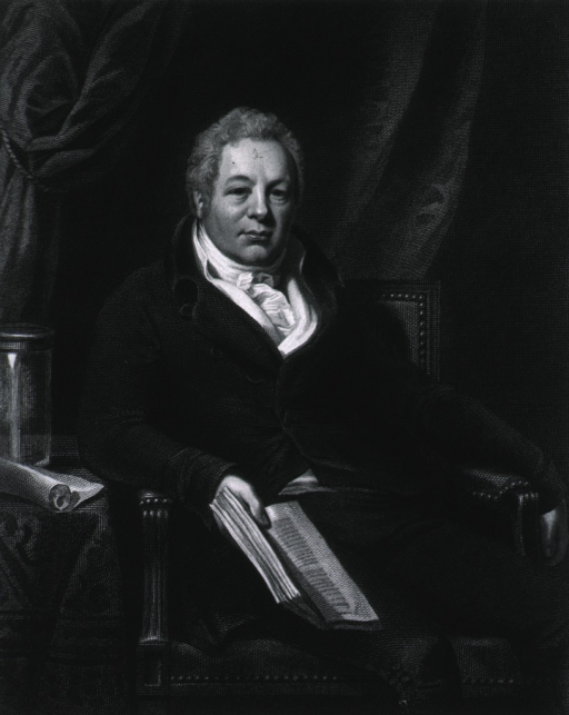 <p>Seated, holding book, right pose.  Inscription reads:  late Surgeon Extraordinary to his Royal Highness the Prince Regent and one of the Surgeons of St. Thomas' Hospital.</p>