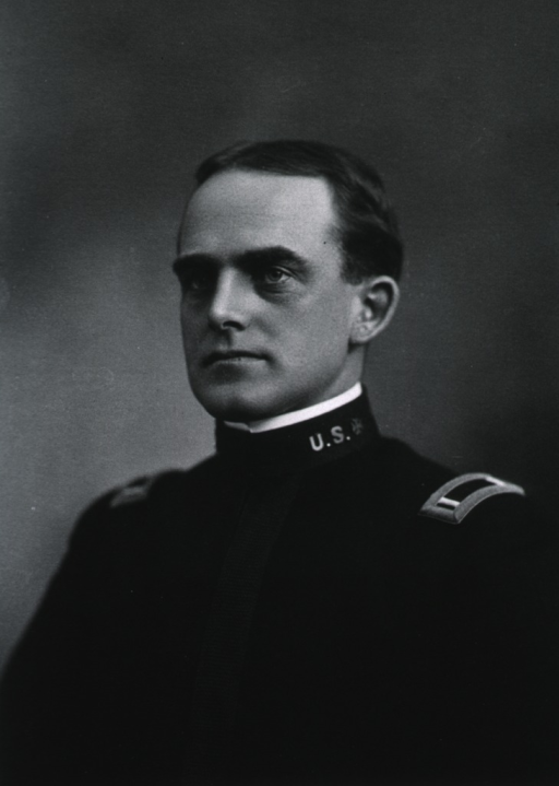 <p>Head and shoulders, left pose; wearing uniform; as a young man.</p>