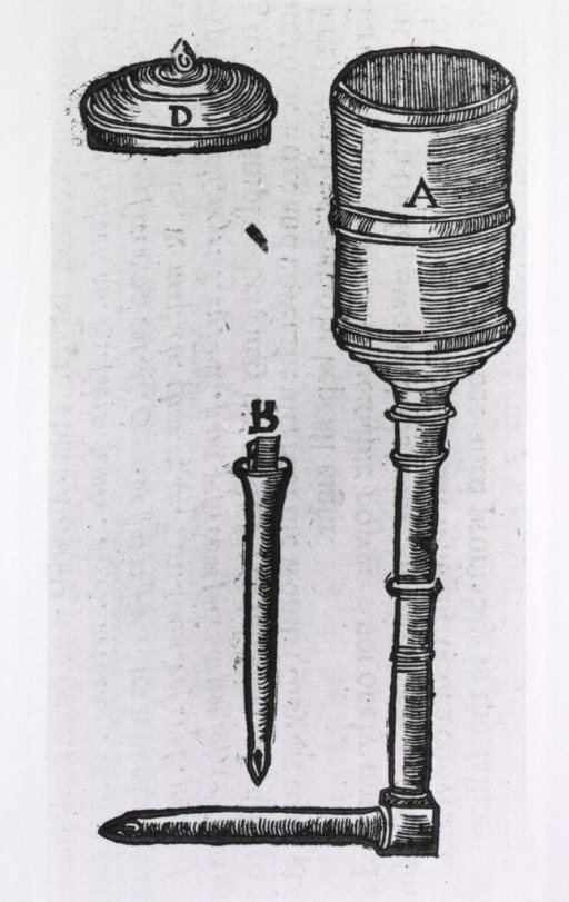 <p>Clyster pipe and syringe.</p>