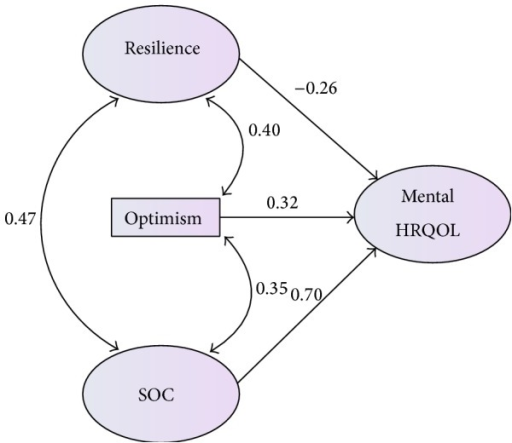 Note. SOC = sense of coherence; HRQOL = health related quality of life.