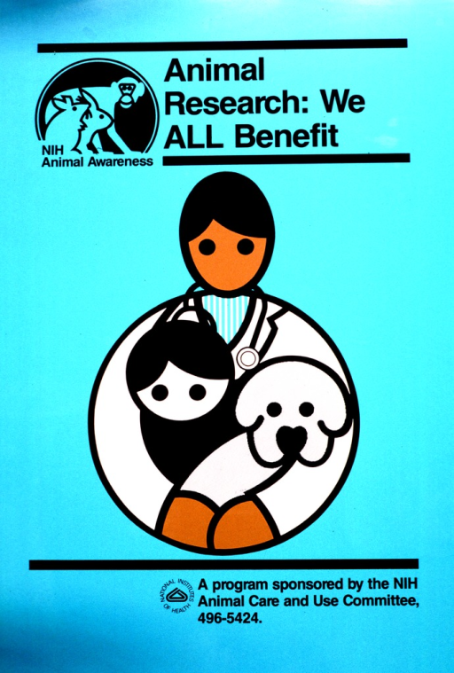 <p>Drawing of a person with a stethoscope holding an animal and a small person.</p>