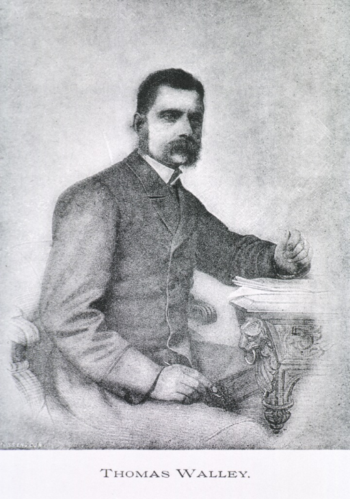 <p>Seated, right pose; arm on table.</p>