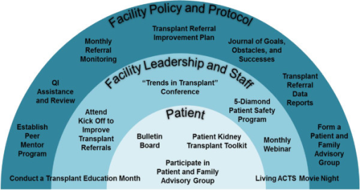 Description of patient-, staff-, and facility-level interventions for RaDIANT community study.