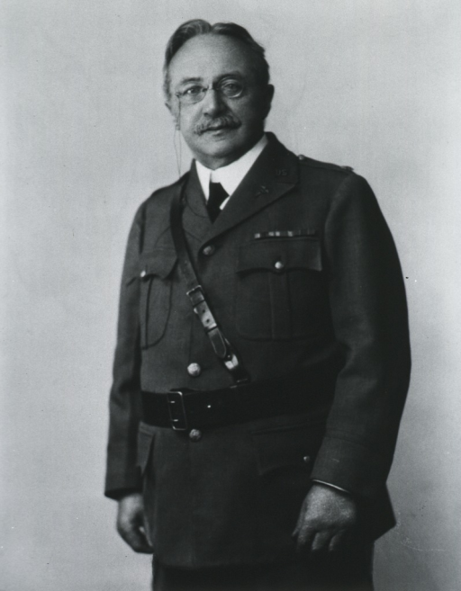 <p>Half-length, left pose, full face; wearing uniform with Sam Brown belt.</p>