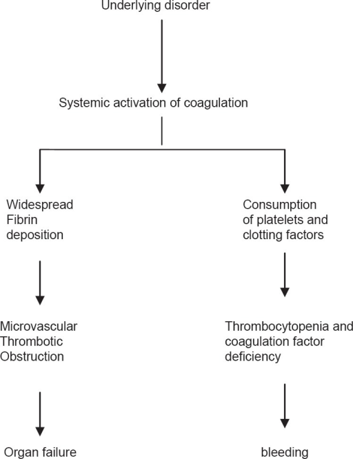 The clinical picture of disseminated intravascular coagulation