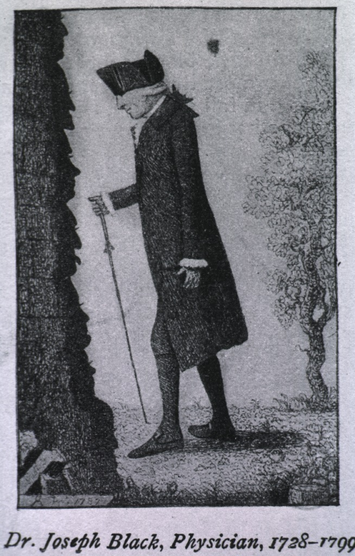 <p>Full length, left profile, wearing hat and coat; walking with the aid of a cane.</p>