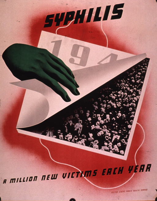 <p>Predominantly red poster with multicolor lettering.  Initial title word at top of poster.  Visual image is an illustration of a green hand pulling up a calendar page to reveal a b&amp;w photo reproduction showing a large crowd of people.  The calendar page bears the numbers 194, with the 4 partially obscured.  Remaining title text and publisher information at bottom of poster.</p>