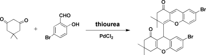 palladium(II) chloride catalyzed synthesis of the title compound.
