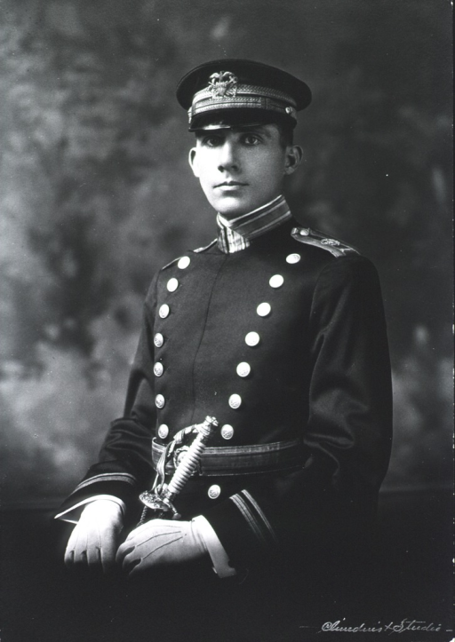 <p>Half length, full face, USPHS full dress uniform and cap, with sword and gloves.</p>