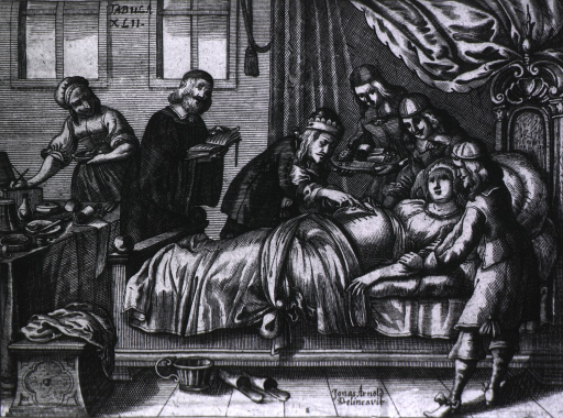 <p>A surgeon and five attendants proceed to perform a caesarean section.</p>